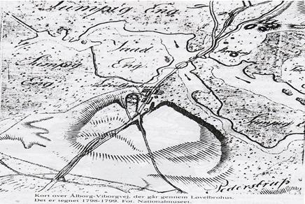kort over hovedvejen gennem Løvelbrohus
