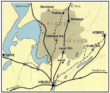 middelalderens vejsystemer nord for viborg